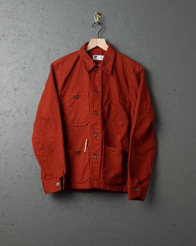 Tellason Garment-Dyed Coverall Jacket - International Orange