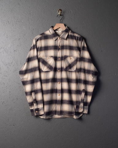 3sixteen LS Flannel Utility Work Shirt - Black Ombre
