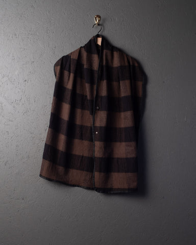 3sixteen Wool Snap Shawl - Buffalo Check