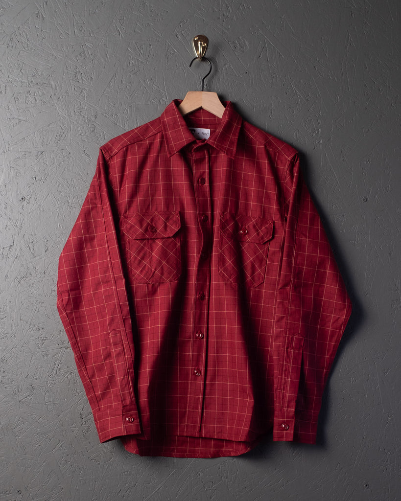Tellason Clampdown Shirt - Burgundy Plaid