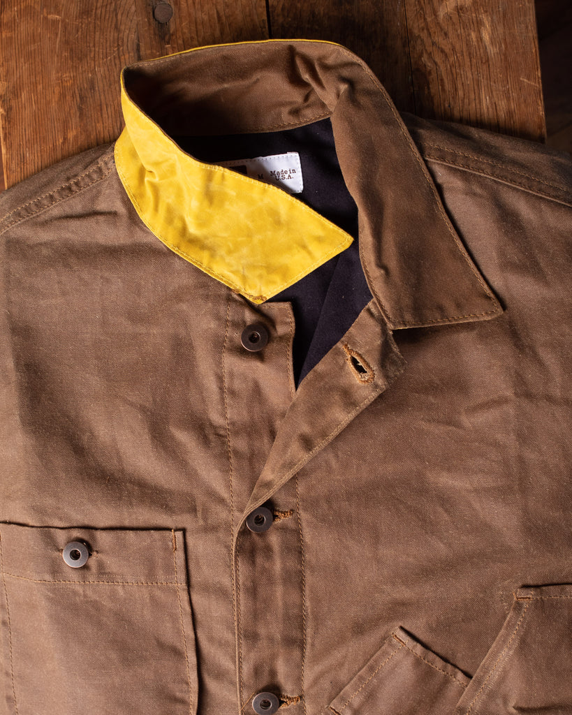 Tellason Waxed Canvas Coverall Jacket - Brown