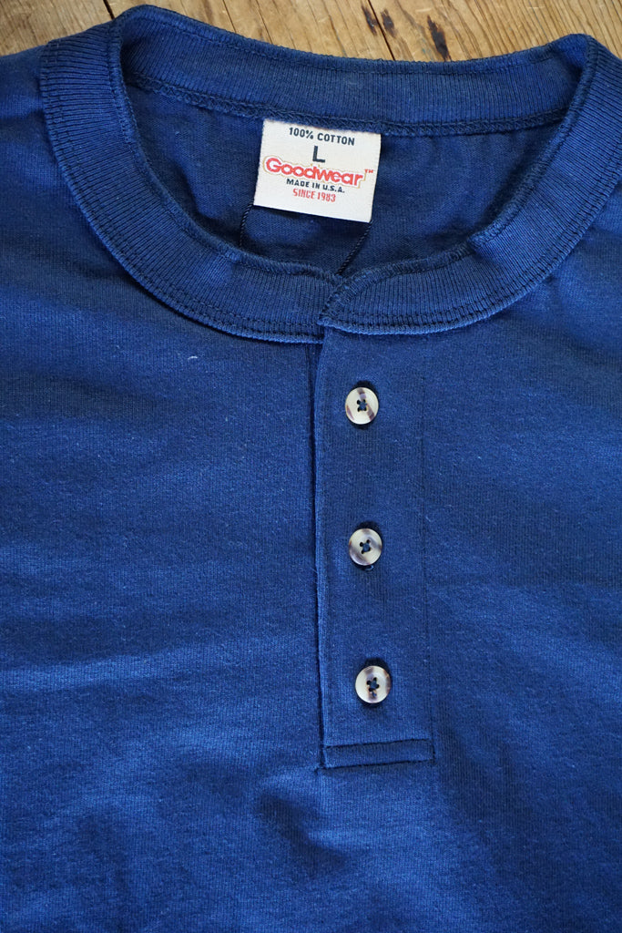 Goodwear X-Heavyweight SS Henley - Navy