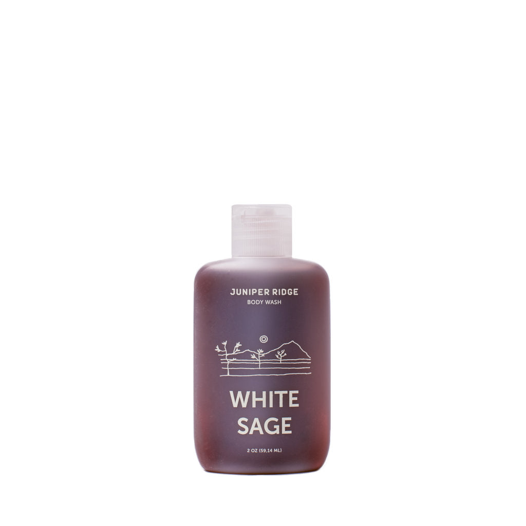 Juniper Ridge White Sage Body Wash - 8 oz. and 2 oz.