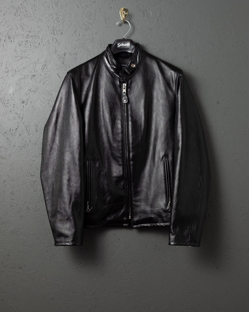 Schott Cafe Racer 654 Black Leather Jacket