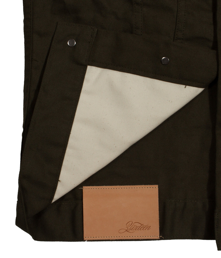 3sixteen Type 3s Canvas Jacket - Olive Duck