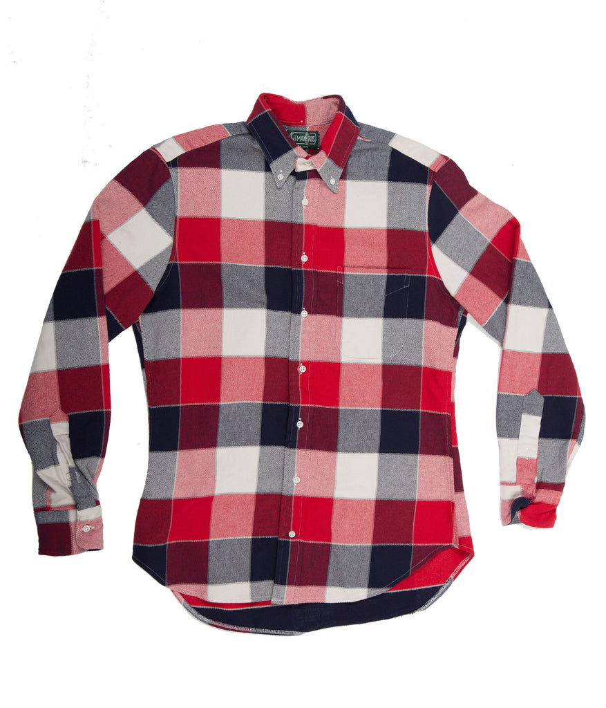 Gitman Bros. Vintage Shirt - Red, White, and Blue Flannel
