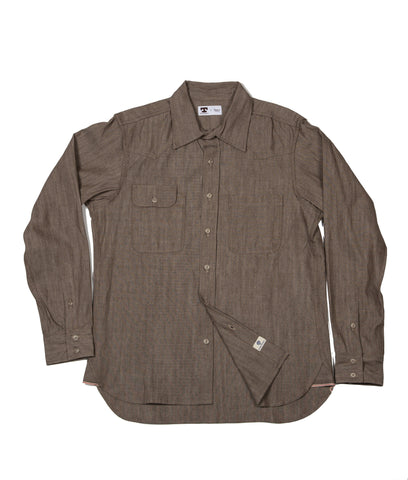 Tellason Topper Shirt - Italian Brown Selvedge
