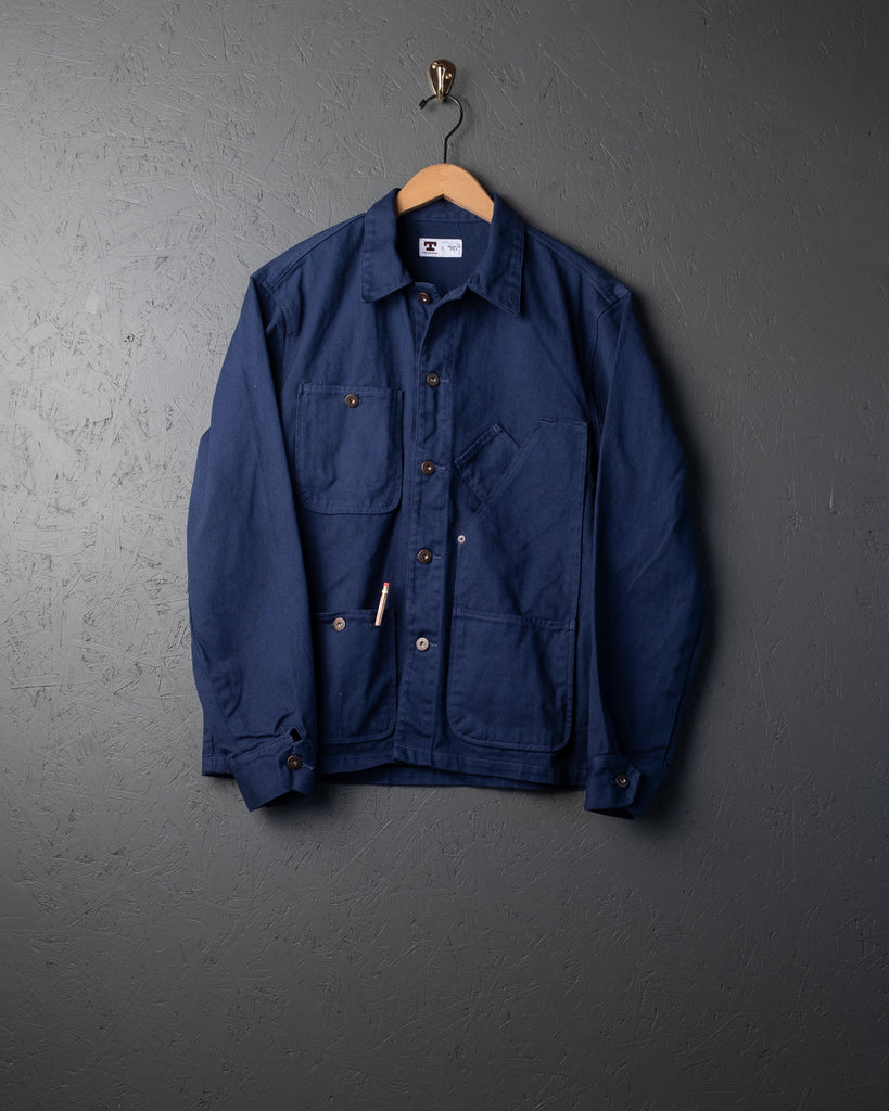 Tellason Garment-Dyed Coverall Jackets - Blue
