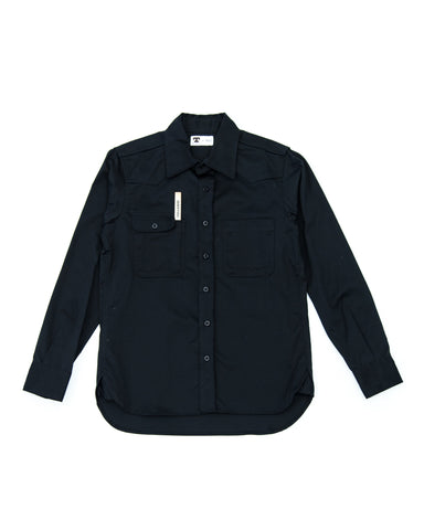 Tellason Topper Shirt - Black Japanese Twill