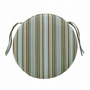 "Round 20""x20""x2"" Seat Pad Sunbrella in Elegant Dots, Checks, and Stripes - $74.99"