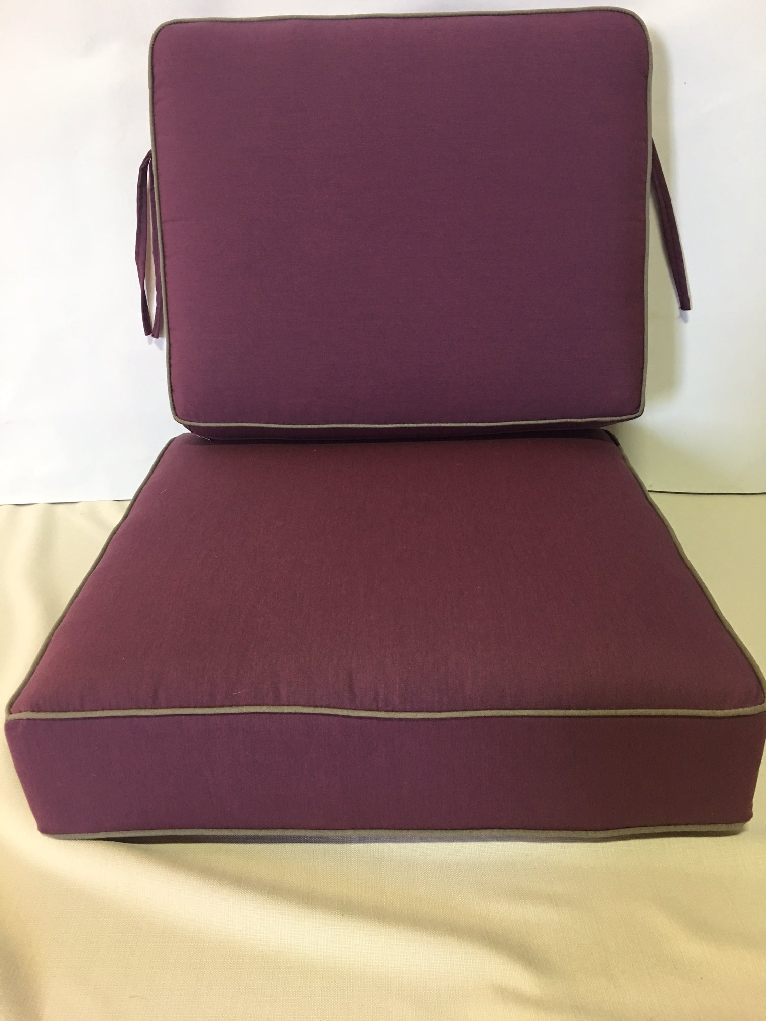 "2pc Sunbrella 6"" Cushion $209.00/$229.00, 6 sizes"