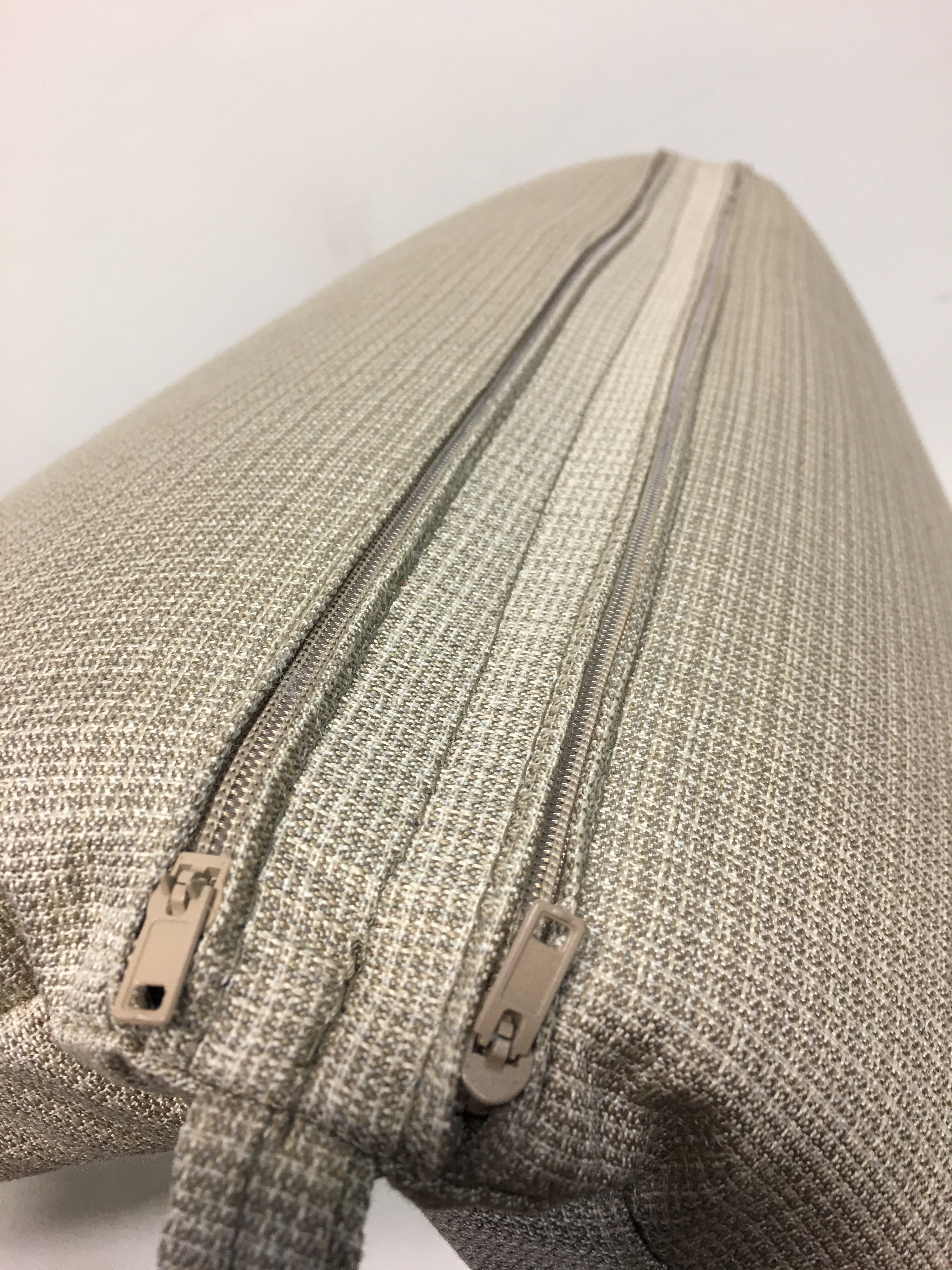 1 piece hinged 22w x 44 x 4 Stock fabric Sunbrella Malabar