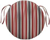 "Round 20""x20""x3"" Seat Pad Sunbrella in Elegant Dots, Checks, and Stripes - $79.99"