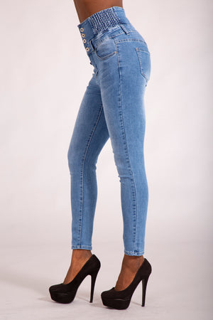Super High waist Blue Jeans
