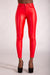 Cute Kandy Red leather Look Leggings - Denim Crush