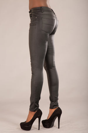 Layla Black Leather Trousers