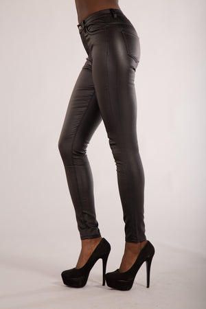 Hooked on Me Classic High Waist Trousers - Denim Crush