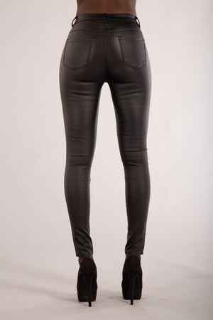 Hooked On Me Classic Leather Look Trousers from Denim Crush