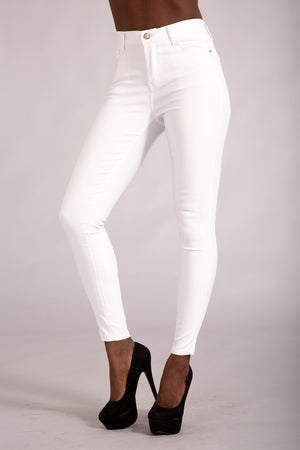 Cute Kandy White leather Look Leggings