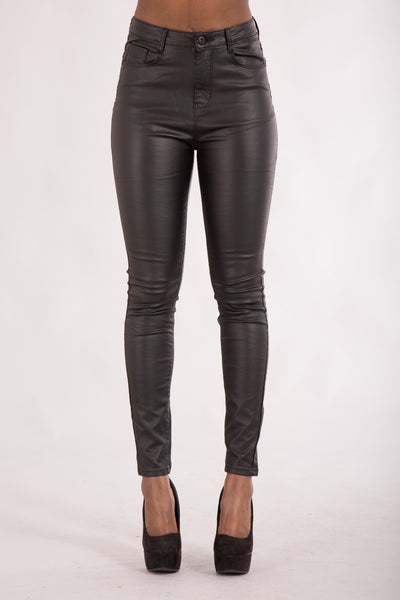 Suzzi plus size leather look trousers - Denim Crush