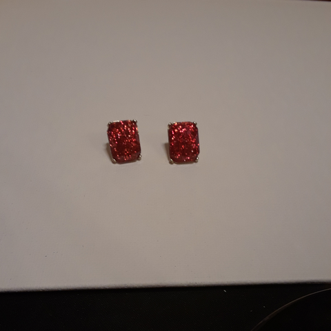 Beautiful and glitzy red earrings