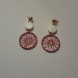 Wire woven circled earrings