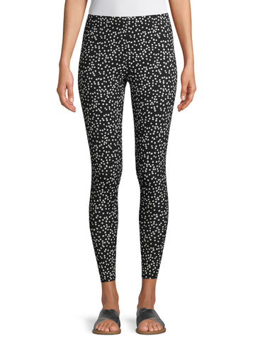 Black with white Pok-a-dot ankle jeggings