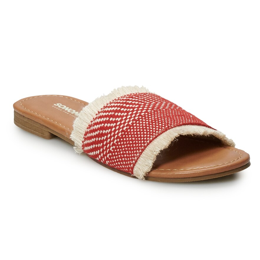 Red and Cream Sandal