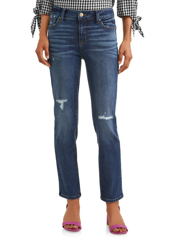 Ladies Trendy Straight Legged Jeans