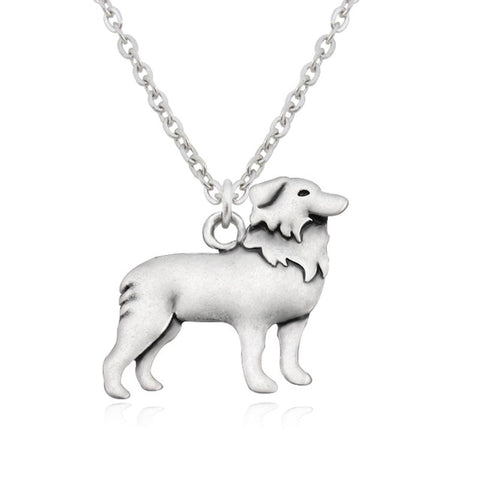 Border Collie Dog Necklaces - Passion's Fashion Closet