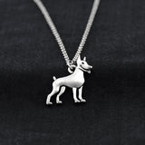 Miniature Pinscher Stainless Steel Chain Necklaces - Passion's Fashion Closet