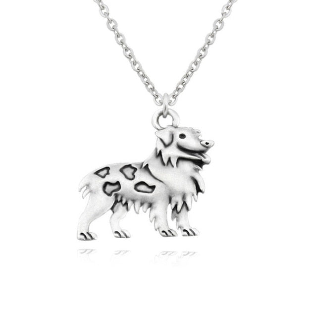 Australian Shepherd Dog Necklace - Passion's Fashion Closet