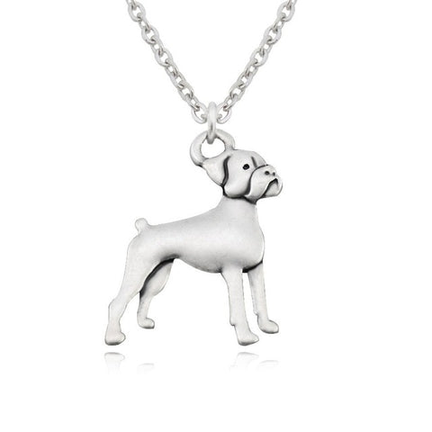 3D Boxer Dog Pendant Stainless Steel Necklace - Passion's Fashion Closet