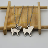 Pug Pendant Stainless Steel Chain Necklace - Passion's Fashion Closet