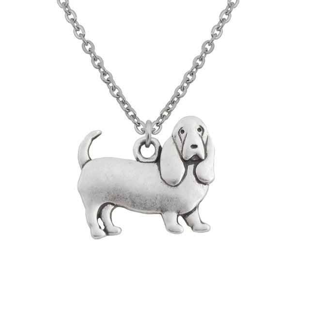 Basset Hound Dog Necklaces - Passion's Fashion Closet