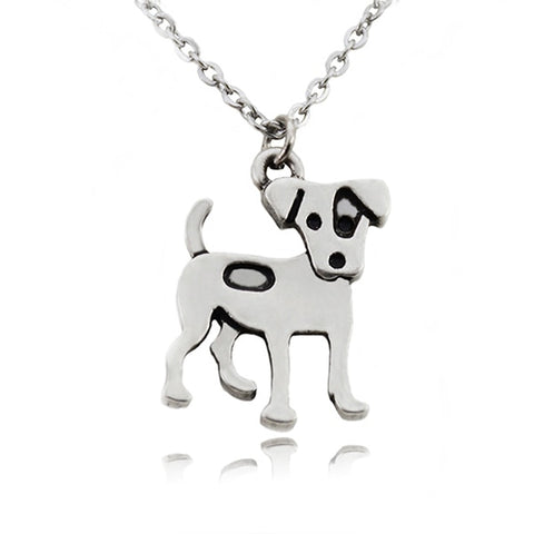 Jack Russell Terrier Stainless Steel Dog Pendant Necklace - Passion's Fashion Closet