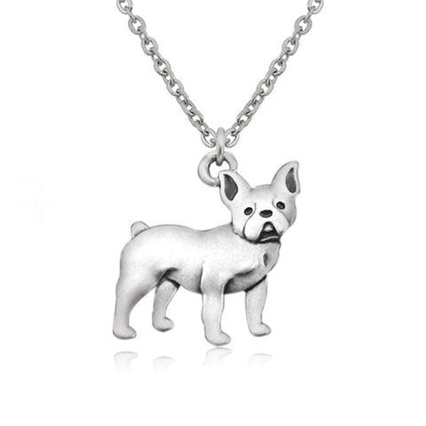 French Bulldog/Boston Terrier Dog Necklace - Passion's Fashion Closet
