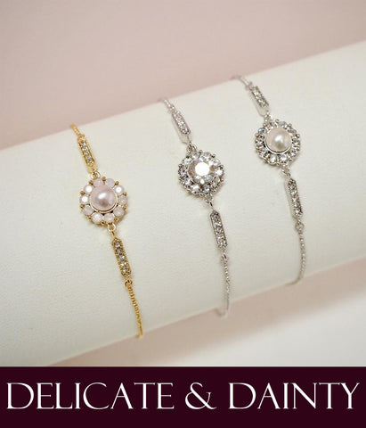 Delicate and dainty jewellery