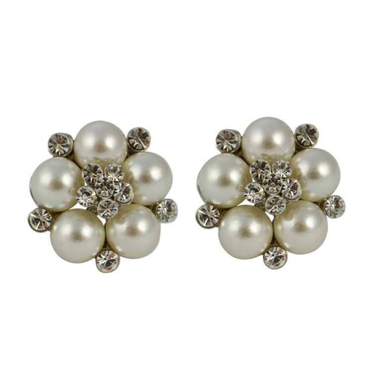 Lovett & Co Audrey Hepburn Cream Clip on Pearl Earrings