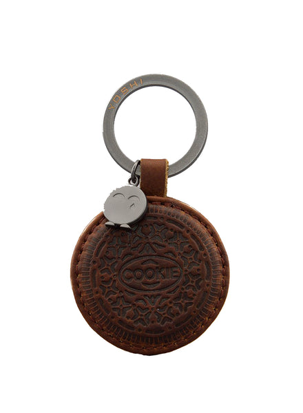 Yoshi Cookie Biscuit Leather Keyring