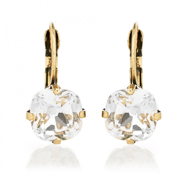 Lovett & Co Cushion Cut Crystal Earrings