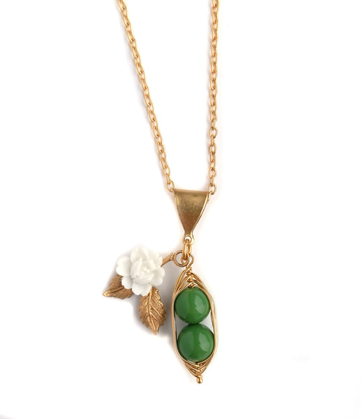 Eclectic Eccentricity Two Peas in a Pod Pendant Necklace - Jewella accessories - 1