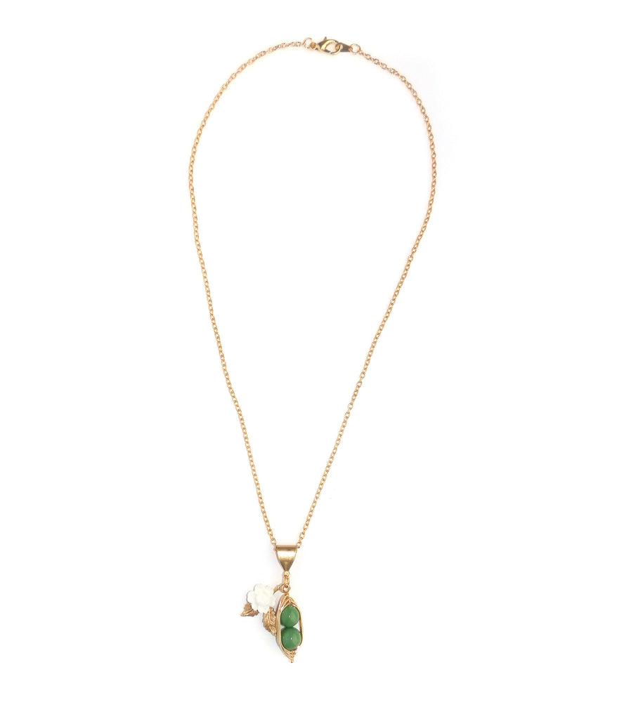 Eclectic Eccentricity Two Peas in a Pod Pendant Necklace