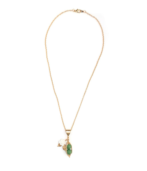 Eclectic Eccentricity Two Peas in a Pod Pendant Necklace - Jewella accessories - 2