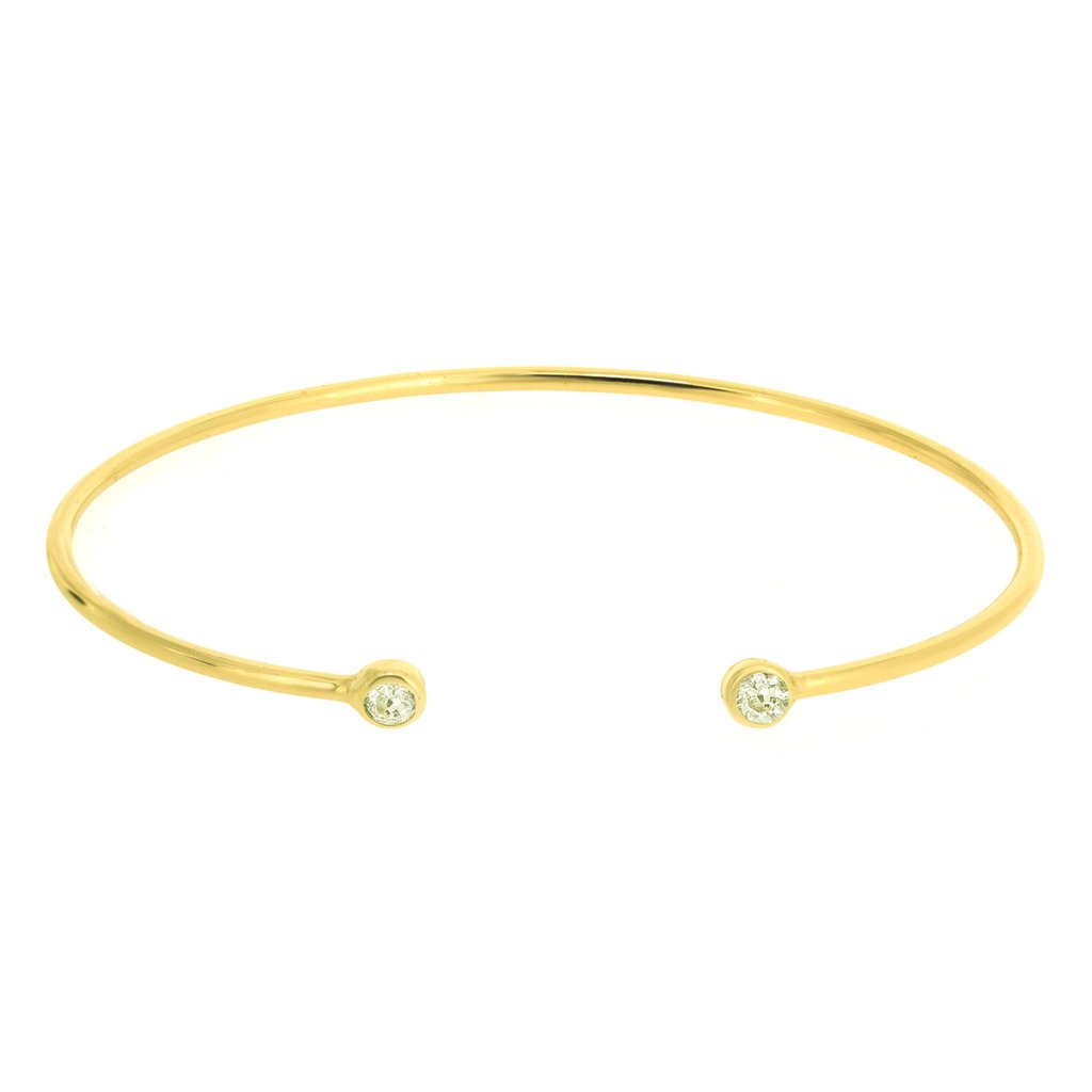 Penny Levi Gold CZ Bangle