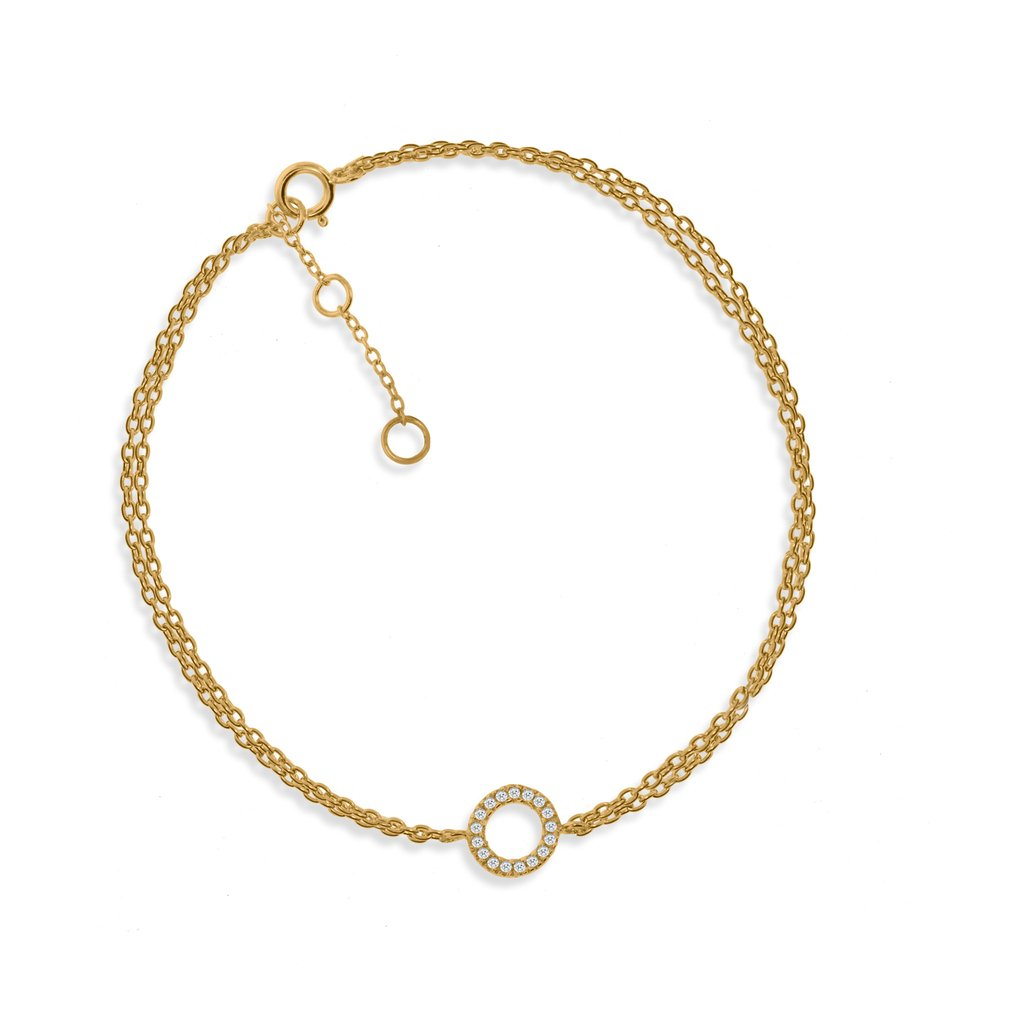 Penny Levi Circle Double Chain Bracelet