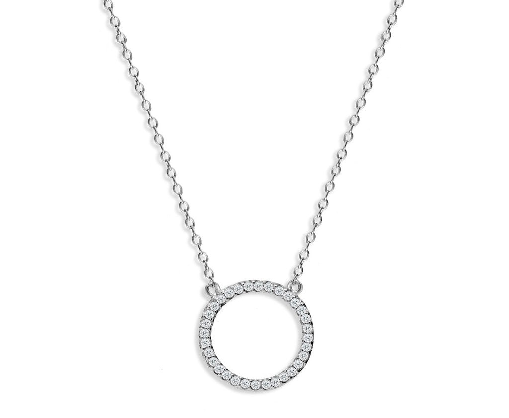 Penny Levi Silver Circle Pendant Necklace