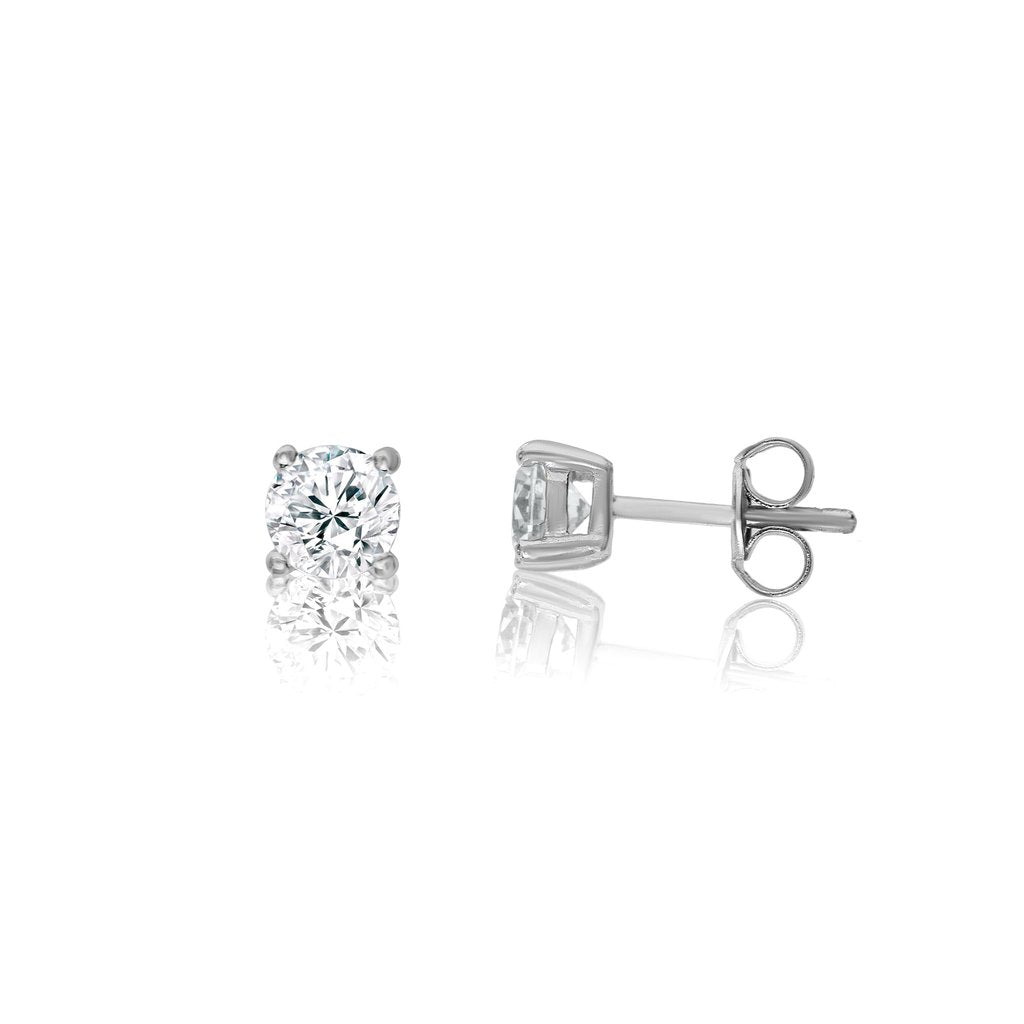 Penny Levi Silver CZ Stud Earrings