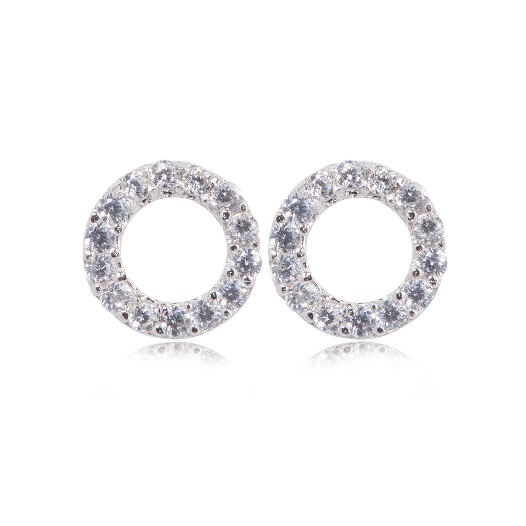 Penny Levi Small Open Circle Silver Studs