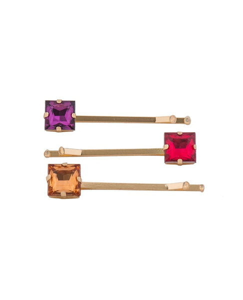 Powder Jewel Hair Slides